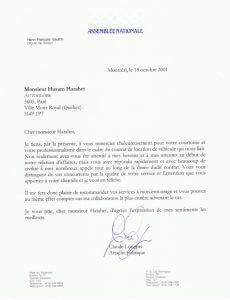 Testimonial - National Assembly of Quebec