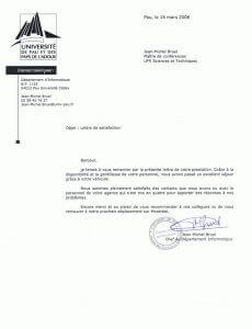 Testimonial - Université de Pau et des Pays de Ladour