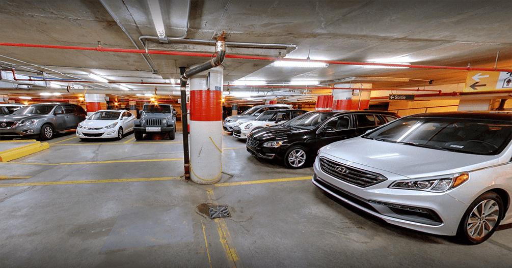 Indoor car rental delivery