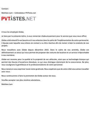 Lettre de remerciement - PVTISTES.NET